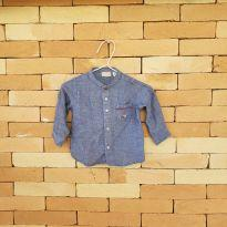 Camisa jeans carro - 9 a 12 meses - Chicco