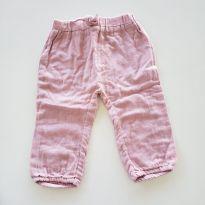 Calça linho rosa - 9 a 12 meses - Tip Top