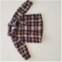 Camisa flanelada xadrez - 6 a 9 meses - Teddy Boom