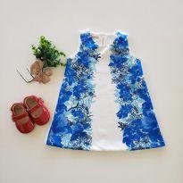 Vestido azul - 9 a 12 meses - Um mais um