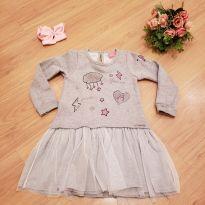 Vestido moletom - 3 anos - Momi