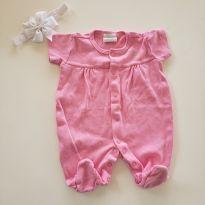 Macacão rosa - Recém Nascido - Baby fashion