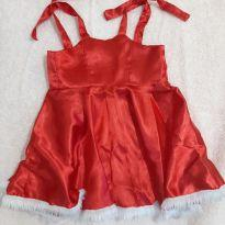 Vestido de Natal - 9 meses - Não informada