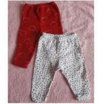 Kit de Calça Coracao e bolinha - 3 a 6 meses - Bicho Molhado