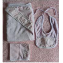 Kit de toalha + babador + Pano Boca -  - Não informada