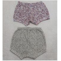 Kit Shorts Oncinha - 6 a 9 meses - Não informada