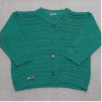 Cardigan Verde Agua - 9 a 12 meses - Milly Baby e millybaby