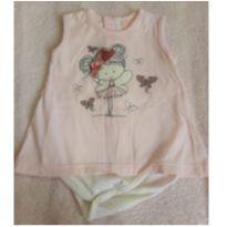 Camiseta Fadinha Bicho molhado - 6 a 9 meses - Bicho Molhado