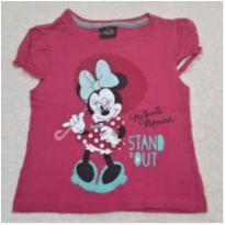 Camiseta Minnie Rosa - 1 ano - Disney e Minnie