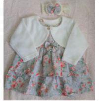 Vestido Florido Bolero e Laço - 6 a 9 meses - Chuquinha