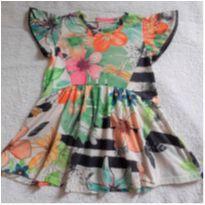 Vestido Florido Quimby - 1 ano - Quimby