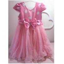 Vestido Festa Minnie - 24 a 36 meses - Não informada