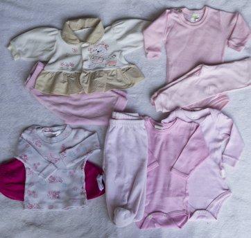 98ad21930c roupinhas de bb recem nascida 1 conjunto de plush como novo + 3 body 3  calças e 1 camiseta total de 9 pçs usada bem conservada