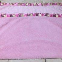 Manta/Cobertor  Rosa de Microfibra com detalhes em borboletas - Anti alérgico -  - Buettner