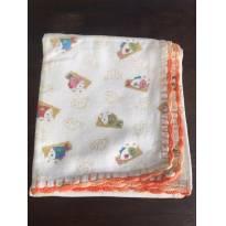 Cueiro flanelado Unissex com barra de crochê - Sem faixa etaria - Costureira
