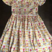 Vestido Abacaxi - Alphabeto - 12 Anos