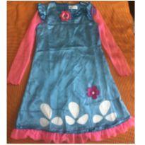 Vestido / Fantasia Poppy Trolls + Colar + Tiara - 12 anos - Importada