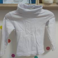 Camiseta gola alta branca - 1 ano - Rovitex Baby