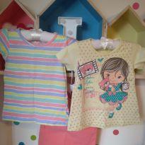 Kit com 3 camisetas - 3 anos - Várias