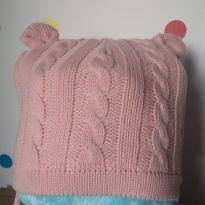 Touca de trico trançado com orelha de ursinho - 1 ano - Baby boom