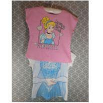 Kit 2 camisetas princesas - 4 anos - marisa