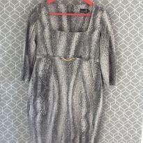 Vestido de tricô com estampa de Cobra - Gestante - P - 38 - Mammy Gestante