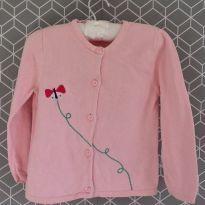 Cardigan rosa com borboleta - 2 anos - Gymboree