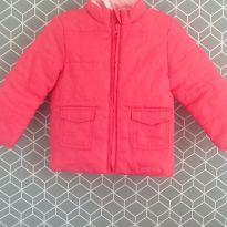Casaco de nylon rosa - 1 ano - Não informada