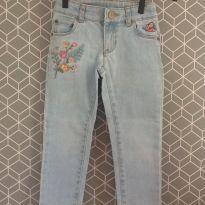 Calça jeans com bordado Carter´s - 3 anos - Carter`s