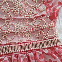 Vestido de festa bordado animê - 3 anos - Animê