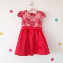 Vestido de Festa Rosa (Momi) - Lindo de Viver! - 2 anos - Momi