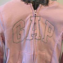 Blusa moletom capuz pelinhos GAP - 10 anos - Gap Kids