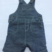 jardineira jeans - Recém Nascido - Mothercare