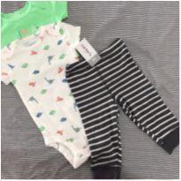 Carter`s | Conjunto 3 Peças | Body + Calça - 6 meses - Carter`s