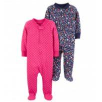 Kit Macacão 2 Peças -  2-Pack Zip-Up Cotton Sleep & Play