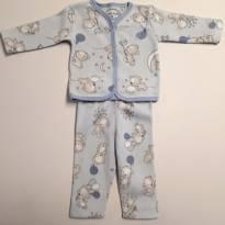 Pijama em Plush Ursinhos Balão Yoyo Baby P - 3 a 6 meses - yoyo Baby