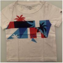 Camiseta Tommy Bebê - 6 a 9 meses - Tommy Hilfiger