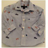 Camisa Tommy Bebê - 9 a 12 meses - Tommy Hilfiger