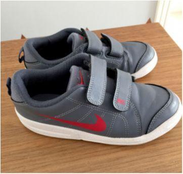 Tênis Nike Cinza com velcro - 30 - Nike