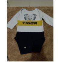 body bebê - 6 a 9 meses - Tigor T.  Tigre