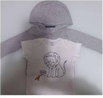 Kit camiseta e blusa com capuz carter`s - 9 meses - Carter`s