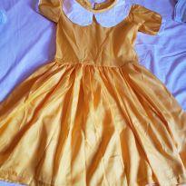 Vestido/fantasia amarela - 9 anos - Não informada