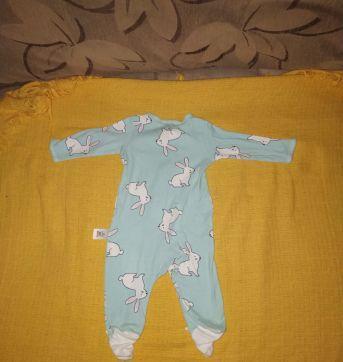 Macacão ou Pijama Listrado Coelhos Carter´s - 0 a 3 meses - Carter`s