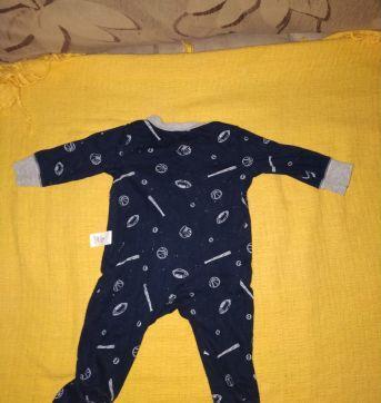 Macacão ou Pijama Listrado All Star Carter´s - 0 a 3 meses - Carter`s