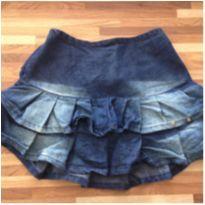 Saia jeans babado - 6 anos - Sem marca e sem etiqueta