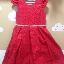 Lindo Vestido de Festa Vermelho - 7 anos - Sem marca
