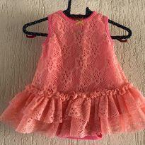 Vestido coral rendado - 3 meses - Baby Starters