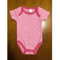 Body rosa liso - 3 a 6 meses - Não informada