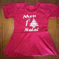 Vestido Meu 1º Natal - 3 meses - Não informada