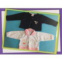 Dois casaquinhos femininos - 6 a 9 meses - Tilly Baby e Celui Baby